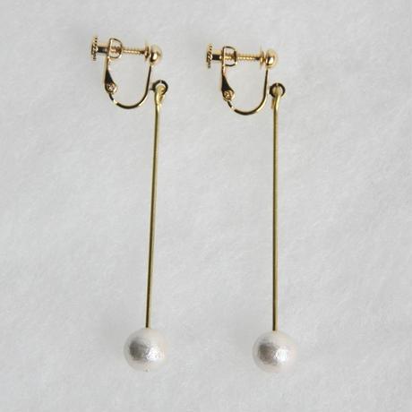 pearl earring long [VE-003w]