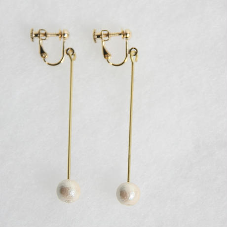 pearl earring long [VE-003k]