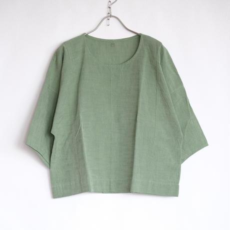 YAMMA   会津木綿バルーン袖シャツ ABS-SH