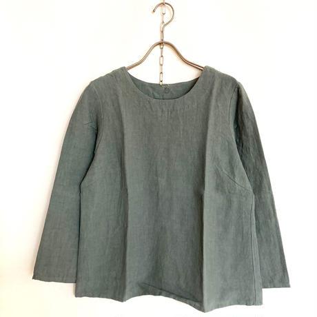 YAMMA   リネン定番丸首シャツ