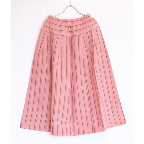 YAMMA   会津木綿タックスカート  ロング丈