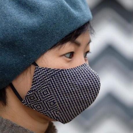 刺し子織 マスク