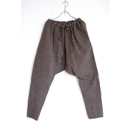 NORAGI PANTS ヤマッパカマ / 会津木綿 棒縞