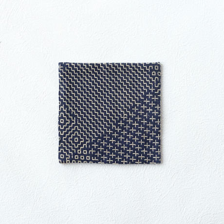 紋刺し子コースター