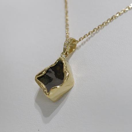 イミラックパラサイト隕石®︎18金ダイヤモンドネックレス【しずく】