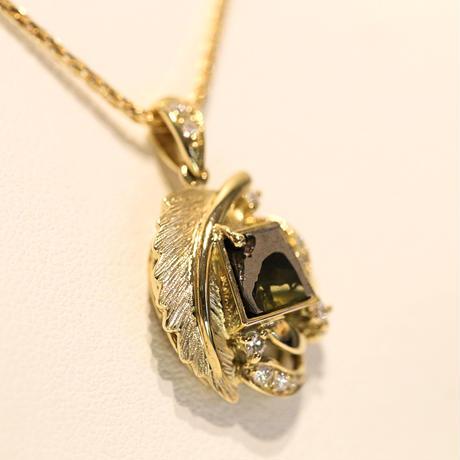イミラックパラサイト隕石®︎18金ダイヤモンドネックレス  【WING】
