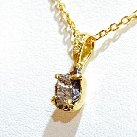 【入門オススメ】ナンタン隕石 × 18kゴールド × 天然ダイヤモンド ネックレス