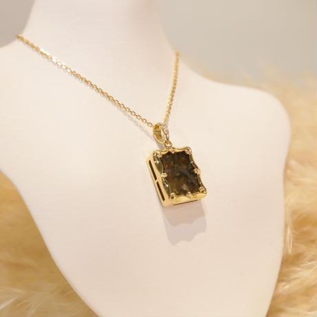 イミラックパラサイト隕石®18K ダイヤモンドネックレス
