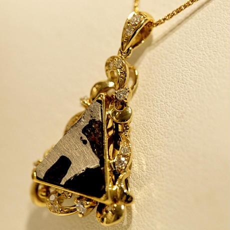 イミラックパラサイト隕石®︎18金ダイヤモンドネックレス
