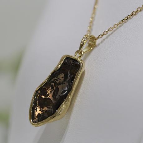 イミラックパラサイト隕石®︎18金ダイヤモンドネックレス【光の力】