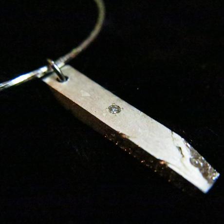 ギベオン隕石×天然ダイアモンドペンダントトップ