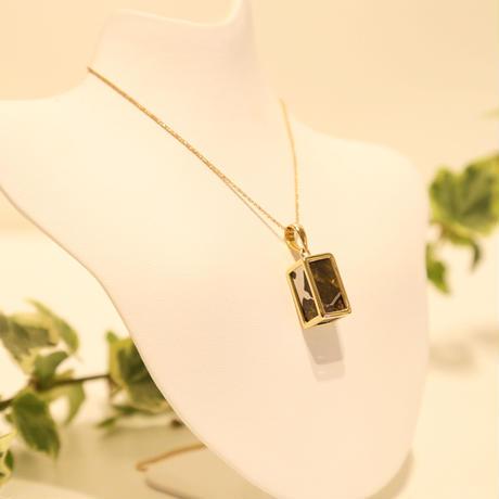 イミラックパラサイト隕石®︎18金ダイヤモンドネックレス 【虹】