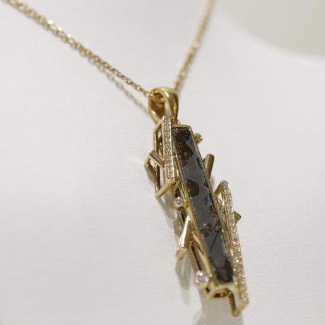 イミラックパラサイト隕石®︎18金ダイヤモンドネックレス【春光】