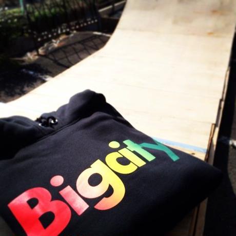 ラスタマン必見!Bigcity LOGO HOOD SWEAT (ラスタCOLOR )