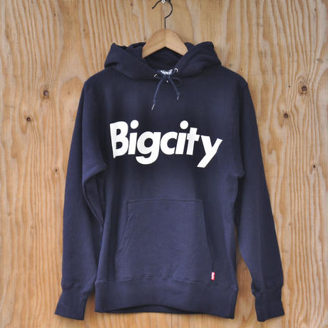 Bigcity LOGO 12オンス HOOD SWEAT   NAVY