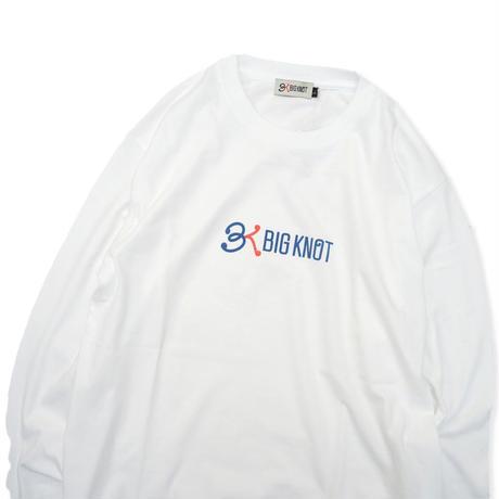 Big Knot / L/S Basic Logo Tee - White