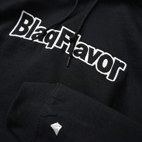 Blaq Flavor / Hooded BF Frame Logo Sweat - Black