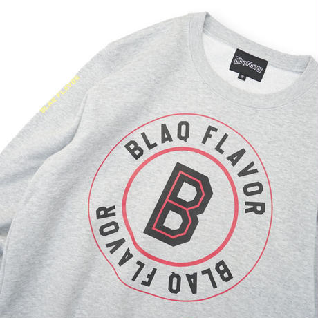 Blaq Flavor / Baseball Logo Sweat - Gray