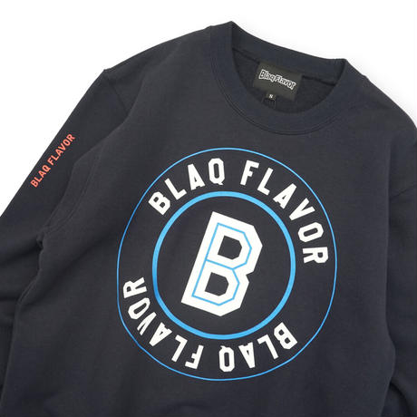 Blaq Flavor / Baseball Logo Sweat - Navy