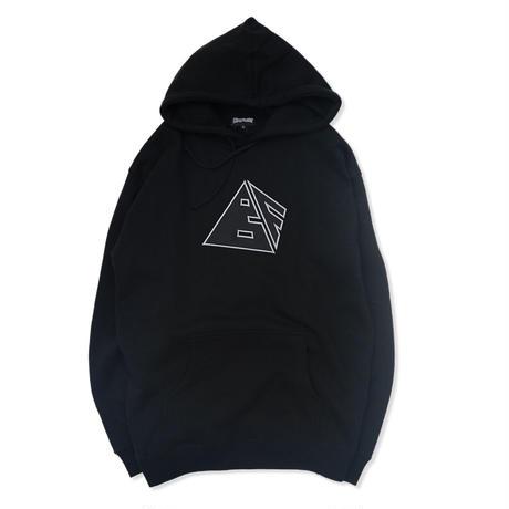 Blaq Flavor /  Hooded Pyramid Sweat - Black