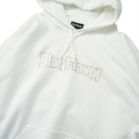 Blaq Flavor / Hooded BF Frame Logo Sweat - White