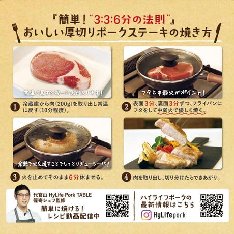 厚切りステーキ&生ソーセージセット(ロース 3枚+生ソーセージ 6本)