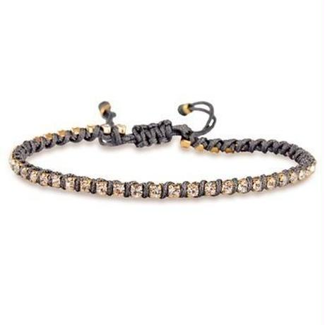 amorium Jewelry friendship bracelet/ Neon dark gray