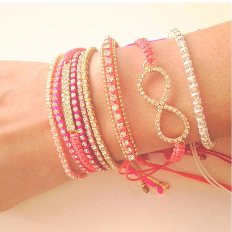 amorium Jewelry friendship thick bracelet/ coral