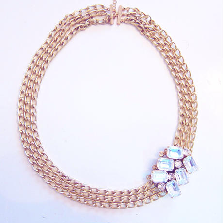 Chain and Bijou Necklace