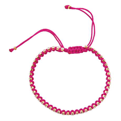 amorium jewelry friendship bracelet/ Neon hot pink