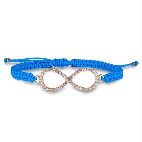 Amorium Jewelry / Infinity bracelet / blue