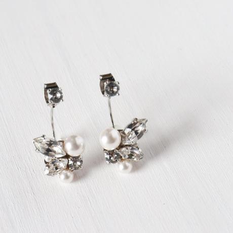 バックキャッチbijouピアス/イヤリング  【crystal/silver】