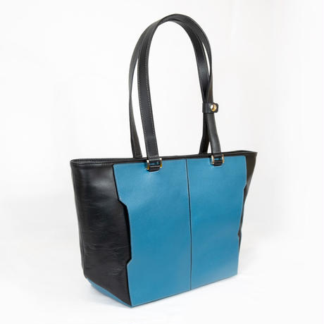 Leather ToteBag Turquoise Blue