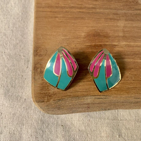 USED happy color pierce (pink,turquoise)