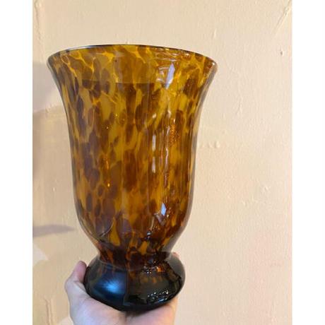 Glass marble big vase