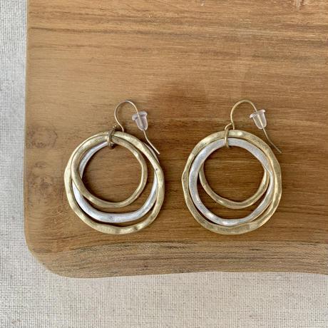 USED simple  pierce (gold,silver color hoop)