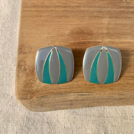USED happy color pierce (gray,turquoise)