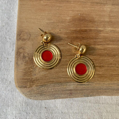 USED happy color pierce (gold,red color)