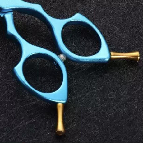 コバルト刃 アルミハンドル カラフルカーブシザー6.5インチ