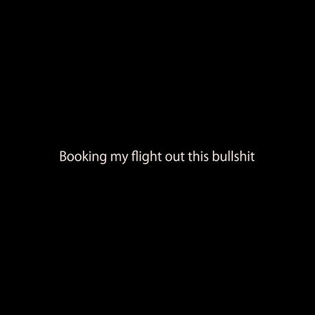 Booking my flight out