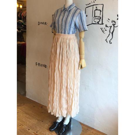 lady's shirring design blouse