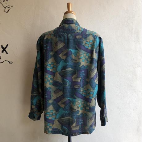 lady's patterned silk blouse