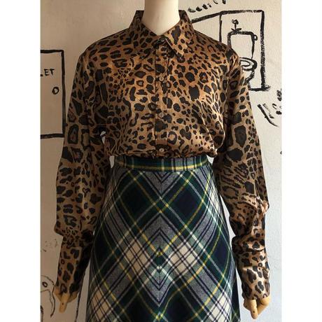 lady's animal pattern blouse