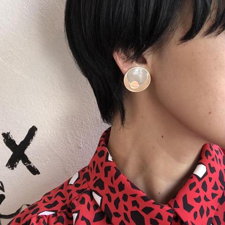 lady's sun & crescent moon  earring