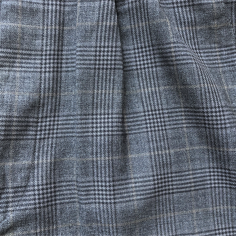 Men's tuck wide check trousers(W34inch)