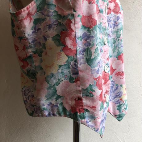 lady's classical  floral pattern vest