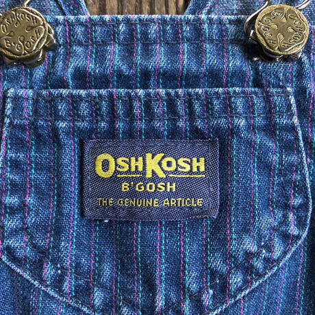 kids 1970s OSHKOSH overall stripe(85cm)