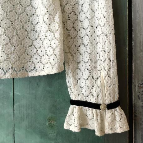 lady's velours trim  lace top