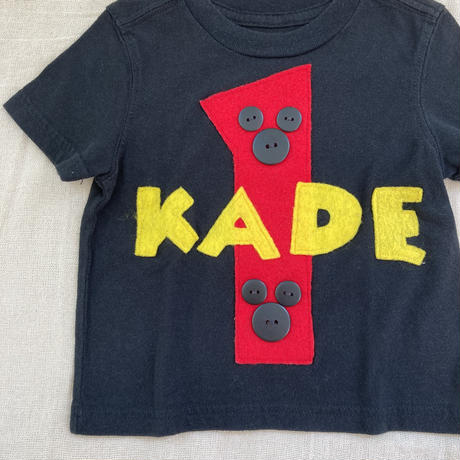 kids S/S sticker T-shirt