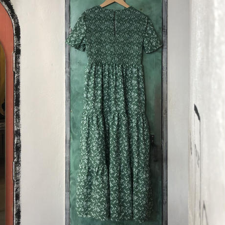 lady's green floral pattern one-piece